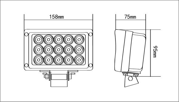 45w square led work light industrial heavy duty 45w led