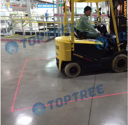 Forklift Laser Alignment System Green Color Crane Safety