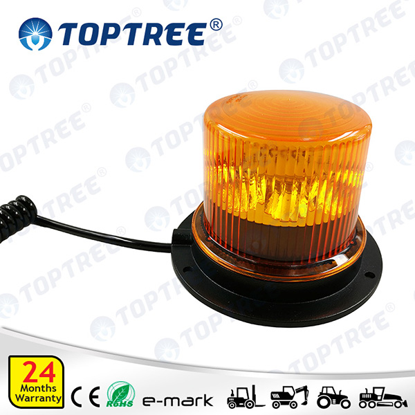 LED Rotating Beacon (Amber) magnet Base 12/24 Volt single mode TPF08