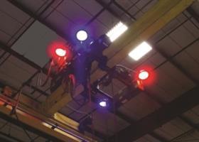 80v Led Overhead Crane Safety Light System Laser Lights