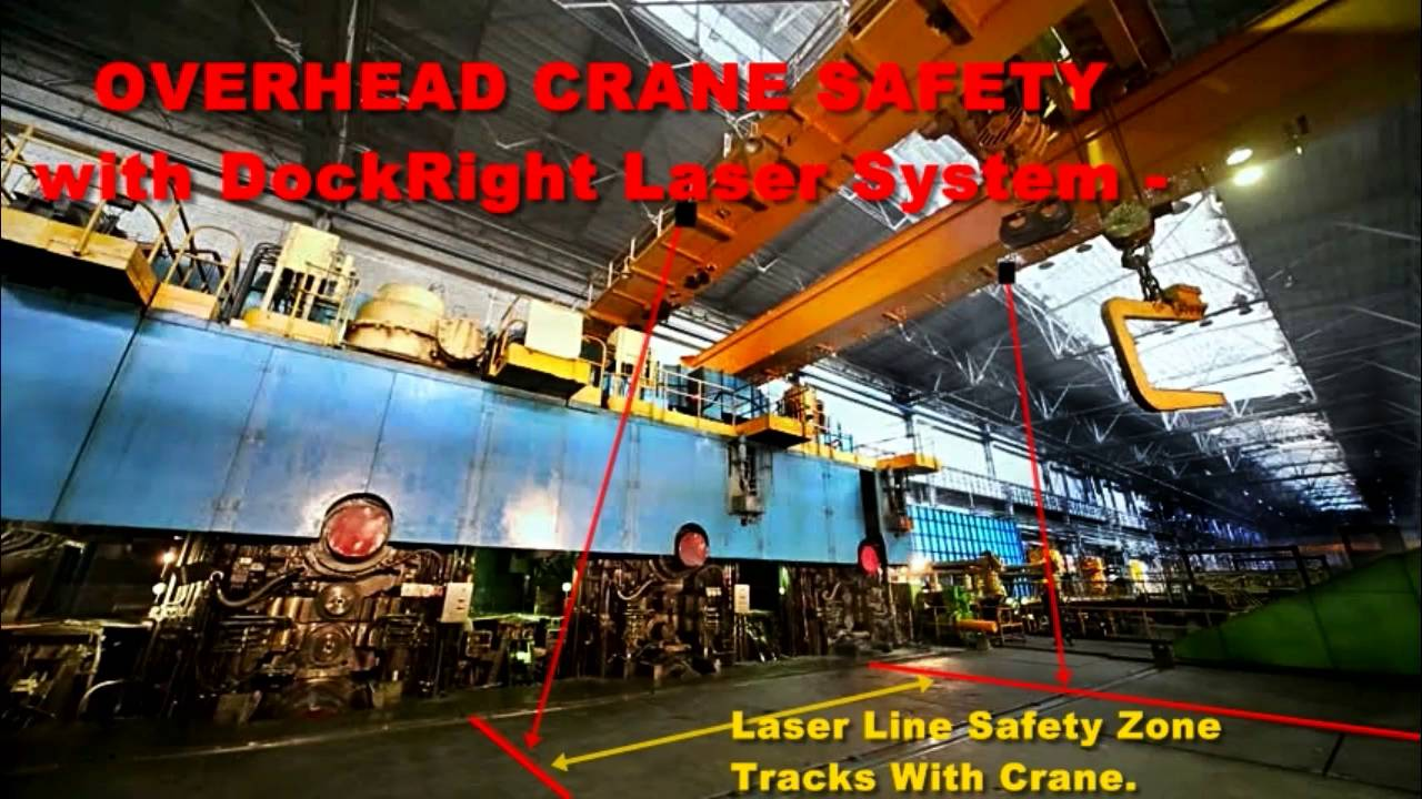 80v Led Overhead Crane Safety Light System Laser Lights
