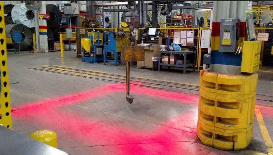 Crane Safety Zone Light System Blue Spot Forklift Safety