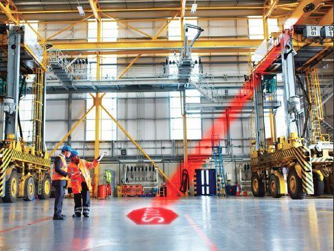 Crane Safety Led Stop Sign Projector Crane Safety Lights Crane Warning Lights Red Zone Lights