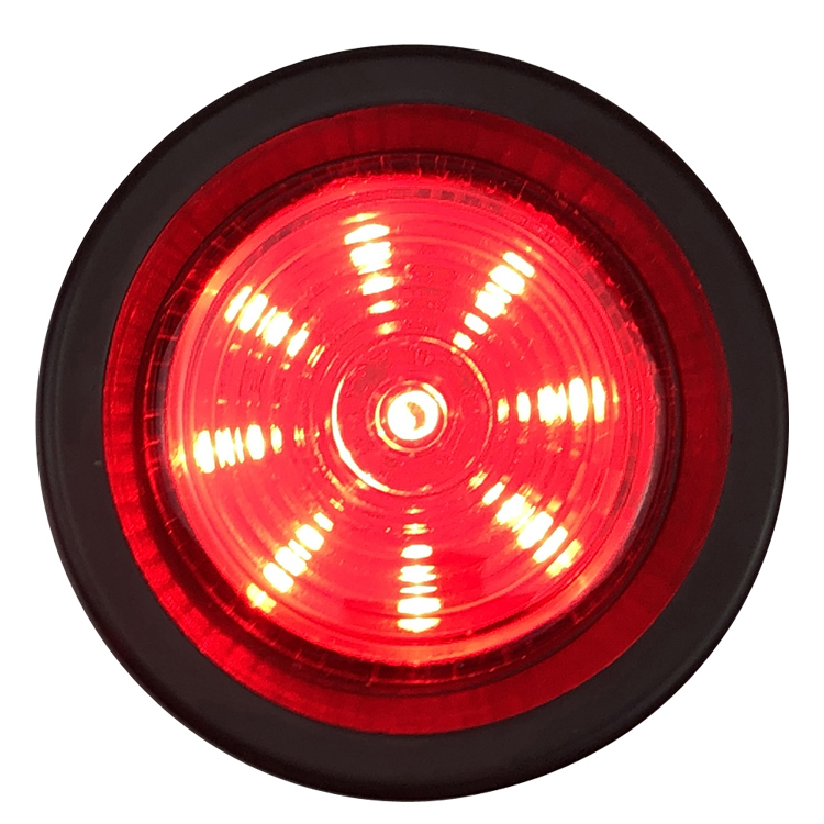 Toptree 2'' Round Amber/Red/Clear Waterproof  Stop Turn Tail Brake Light